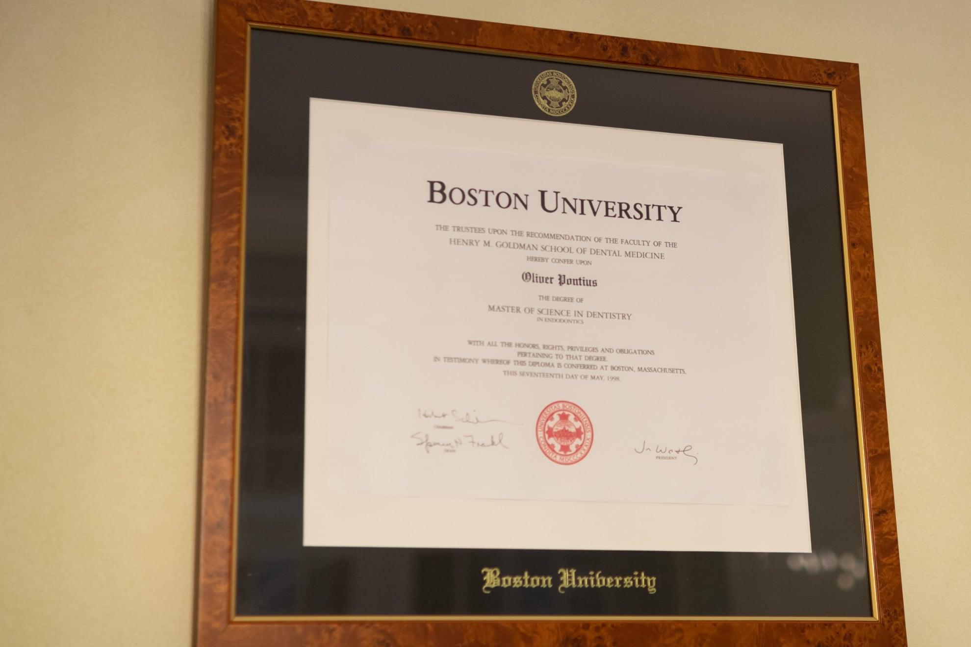 Praxis Dr. Oliver Pontius, Bad Homburg, Boston University